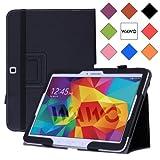 WAWO Samsung Galaxy Tab 4 10.1 Inch Tablet Smart Cover Creative Folio Case - Black by WAWO