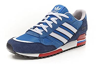 Adidas Originals ZX 750 Mens Sports Casual Trainers (10 UK, Blue/White/Red)
