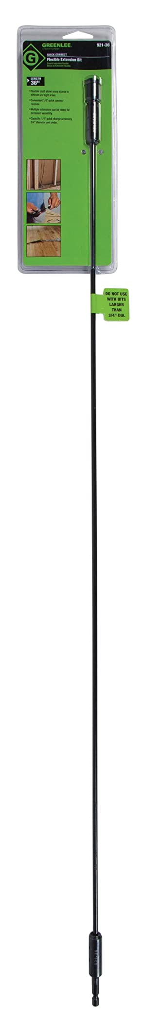 Greenlee 921-36 Quick Change Extension, 3/16 by 36-Inch