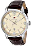 Tommy Hilfiger Men's 1710343 Stainless Steel Brown Leather Watch