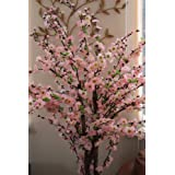 Artificial Blossom Tree with Lifelike Leaves and Pink Silk Flowers -5 Feet