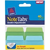Avery NoteTabs, 2 x 1.5 Inches, Cool Blue and Green, 40 per pack (16312)