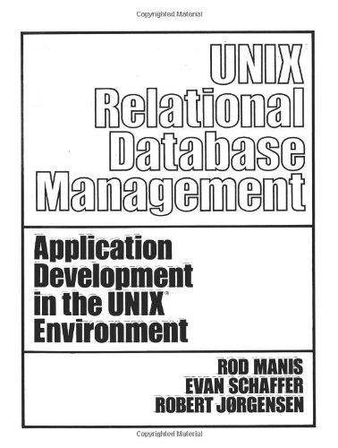 UNIX (TM) Relational Database Management