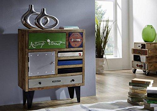 Mobile in legno massiccio laccato multicolore comò legno massiccio Sheesham legno massiccio Möbel Liverpool #29