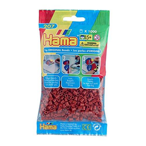 HAMA-207-20-Perlen-rotbraun-1000-Stck