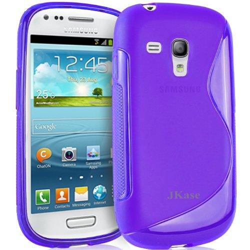 Jkase Premium Quality Samsung Galaxy S3 Iii Mini I8190 Streamline Tpu Case Cover - Retail Packaging - Purple