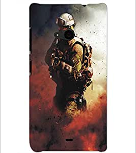 MICROSOFT LUMIA 535 SOLDIER Designer Back Cover Case By PRINTSWAG