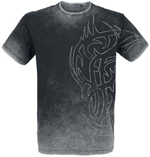 Outer Vision Ninja Tattoo T-Shirt nero/grigio XL