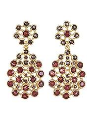 Amethyst By Rahul Popli Brown Silver Stud Earrings - B00OYSBWR4