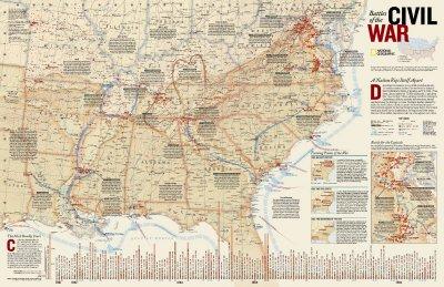 Civil War Battles Map Battles of The Civil War Map