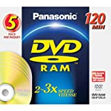 Panasonic 4.7gb Dvd-Ram W/O Cartrge - 5 Pk