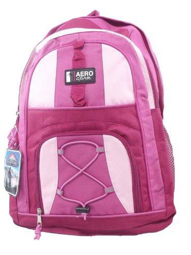 Pink Girls Womens Rucksack School College Backpack Bag - Peppermint Bags