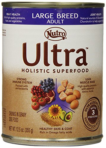 Ultra Dog Large Breed Adult Dog Food Cans, 12-1/2-Ounce, 12 Pack Cans