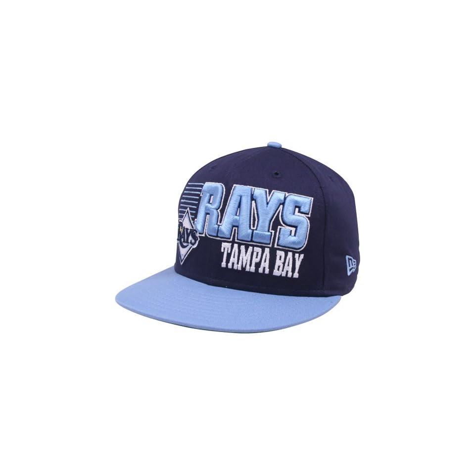 huge discount 45998 08a58 New Era Tampa Bay Rays Navy Blue Light Blue 9FIFTY Borderline Snapback