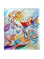 Legendarte Pintura al Óleo sobre Lienzo La Musica Intorno