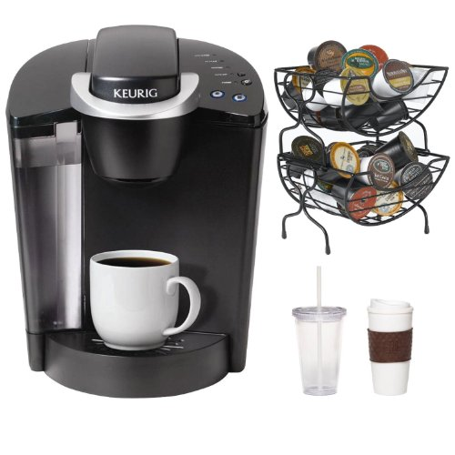 Keurig K45 Elite Single Cup Home Brewing System W/ Bonus 12 Count K-Cup Variety Box + Nifty 6650 Single Serve Coffee Baskets + Coffee Mug & Iced Beverage Cup front-611668