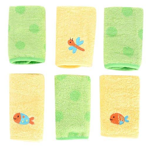 Babies R Us 6Pack Washcloth Set Fish front-660953