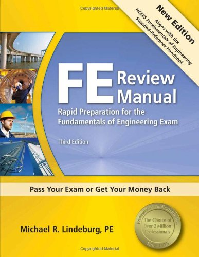 Fe Review Manual Rapid Preparation For The Fundamentals Of Manual Guide