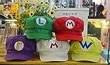 スーパーマリオ ルイージ ワリオ 帽子5コセット コスチューム用小物 フリーサイズ