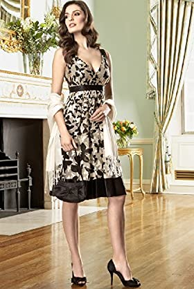 Autograph Occasions Butterfly Print Dress with Silk - Marks & Spencer :  dress butterfly