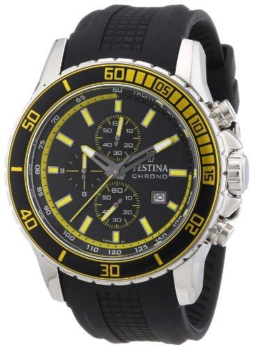 Festina Men's Sport F16561/4 Black Polyurethane Quartz Watch with Black Dial