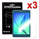 Fintie Samsung Galaxy Tab A 8.0 Ultra-Clear HD Screen Protector (3 Pack With Retail Packaging) - High Definition Invisible Protective Screen Film [Lifetime Replacement Warranty]