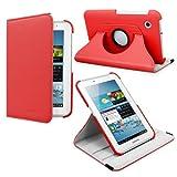 Fosmon GYRE Series Revolving Leather Folio Case for Samsung Galaxy Tab 2 7.0 / P3100 (Red)