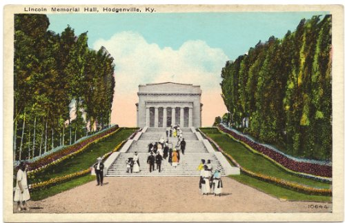1930s Vintage Postcard - Lincoln Memorial Hall