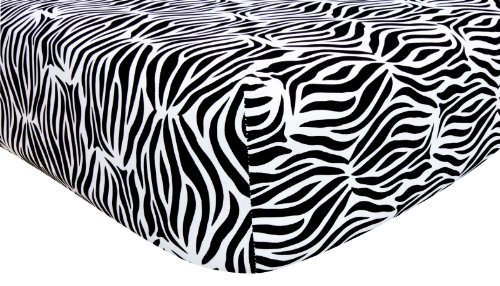 Trend Lab Black and White Zebra Crib Sheet - 1