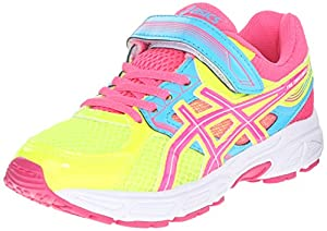 ASICS Pre Contend 3 PS Running Shoe (Infant/Toddler/Little Kid), Flash Yellow/Hot Pink/Turquoise, 2 M US Infant