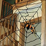 EXTRA LARGE 6 FOOT HALLOWEEN SPIDER WEB Picture