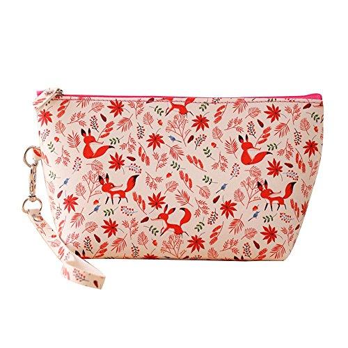 Contever® Portatile PU Sacchetto Lavata Cosmetic Borsa da Toilette Borsetta da Viaggio Cosmetico Wash Bag per le Donne la Signora Girl Dimensioni: 13 cm x 22 -Style 2 centimetri