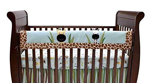 Peek A Boo Jungle Giraffe Nursery Neutral Crib Rail Cover front-948408