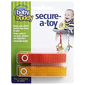 Baby Buddy Secure-A-Toy, Orange/Gold