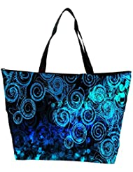 Snoogg Abstract Blue Patterned Designer Waterproof Bag Made Of High Strength Nylon - B01I1KFUGY