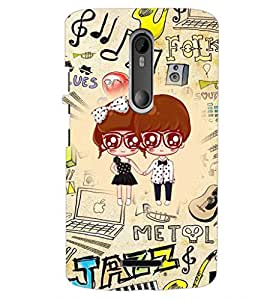 PrintDhaba Cartoon D-4242 Back Case Cover for MOTOROLA MOTO X3 (Multi-Coloured)