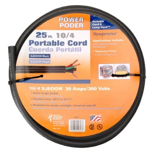 Coleman Cable 10/4 Bulk Wire, 25-Amp 10-Gauge