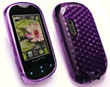 EMARTBUY ALCATEL OT-708 HEXAGON PATTERN GEL SKIN COVER/CASE PURPLE