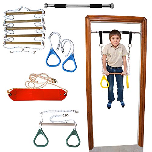 DreamGYM Doorway Gym and Indoor Swing for Children Includes Chin Up ...