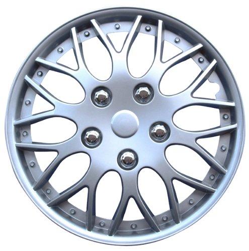 Auto-Style-Missouri-13-Silver-Copricerchio-4-pezzi