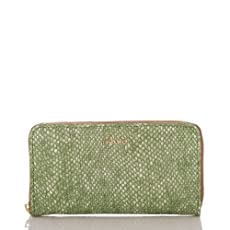 Zip Around Wallet<br>Green Hingham