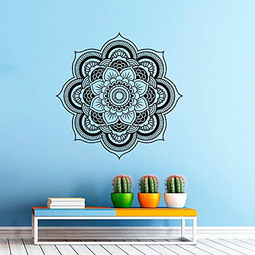 wandtattoo wandaufkleber aus vinyl motiv mandala marokkanisches muster geometrische indisch. Black Bedroom Furniture Sets. Home Design Ideas