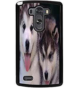 ColourCraft Cute Puppies Design Back Case Cover for LG G3