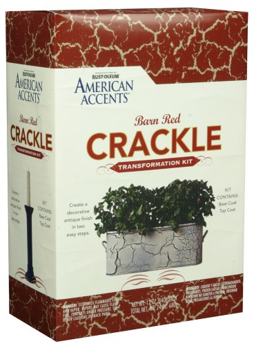 Rust Oleum AMERICAN ACCENTS Crackle Creations Kit, Barn Red