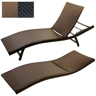 Titan Sun Lounger Chaise Lounge Color: Mocha image