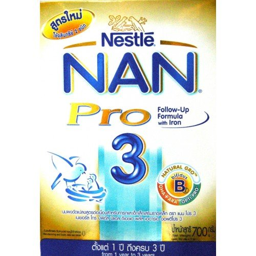 Nestle Nan Pro Formula3 Dha+Ara Size 700 G. front-46748