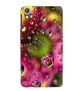 MODERN ART TRICOLOURED WATER DROPLETS PIC 3D Hard Polycarbonate Designer Back Case Cover for HTC Desire 820::HTC Desire 820Q::HTC Desire 820S
