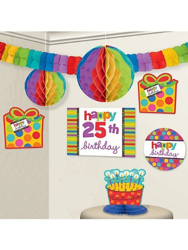 Birthday Dots And Stripes Customizable Decorating Kit