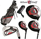 Wilson-Prostaff-HDX-Complete-Golf-Club-Set-Stand-Bag-New-Steel-Shafted-Irons-Graphite-Shafted-Woods-Mens-Right-Hand