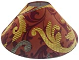 "13"" Round Brown Floral Designer Lamp Shade for Table or Floor Lamp"